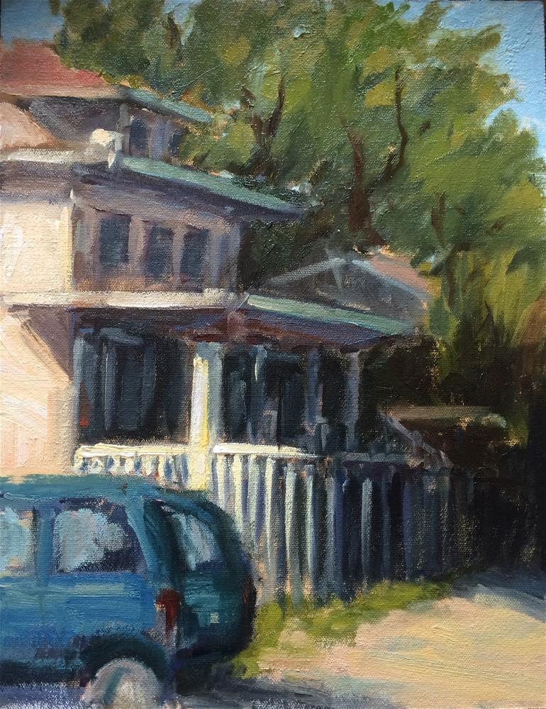 """House in Oak Park"" original fine art by Naomi Bautista"