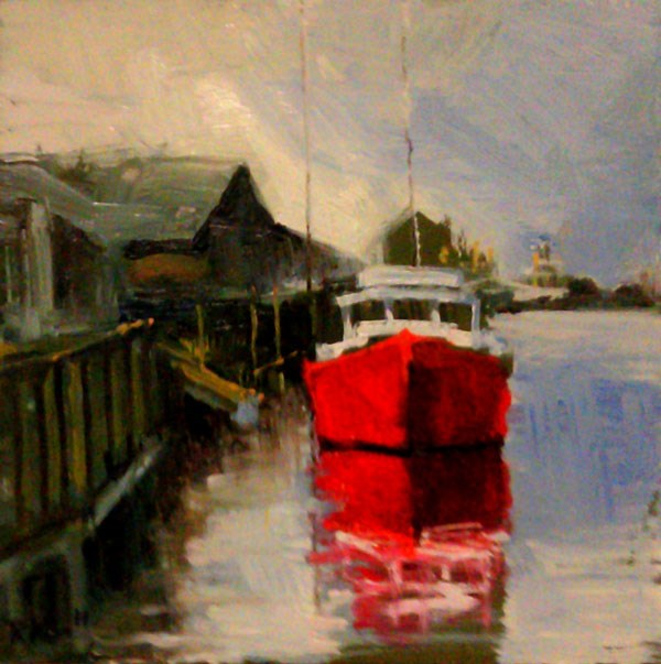 """Pulling In"" original fine art by Bob Kimball"