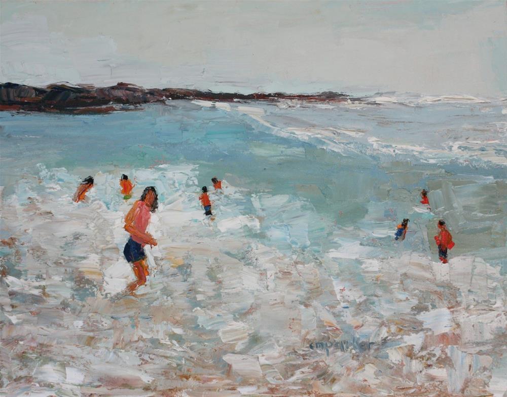 """Abstract Figurative Seascape"" original fine art by Christine Parker"