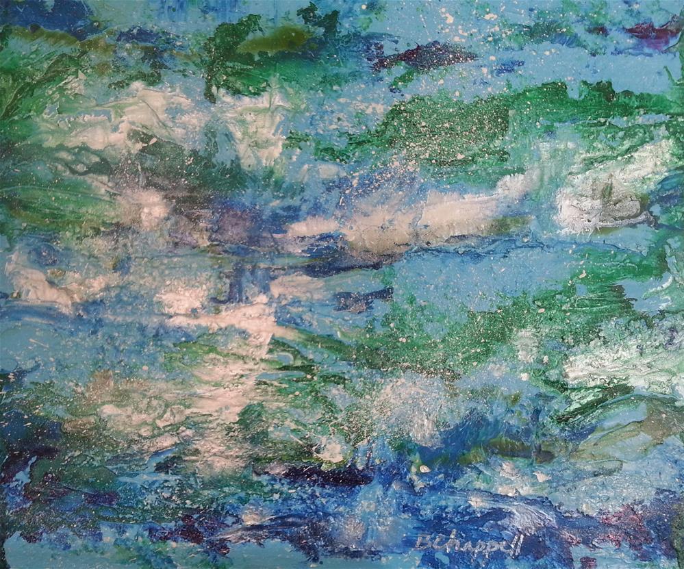 """""""Sea Foam"""" original fine art by Becky Chappell"""