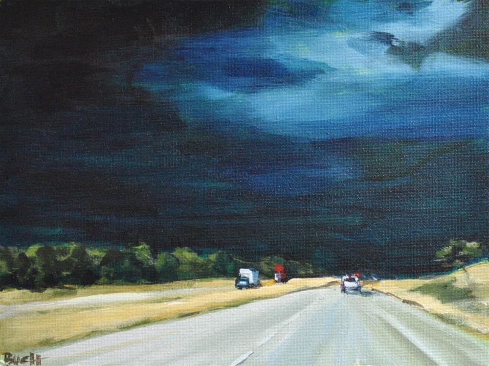 """Highway Storm"" original fine art by Shari Buelt"