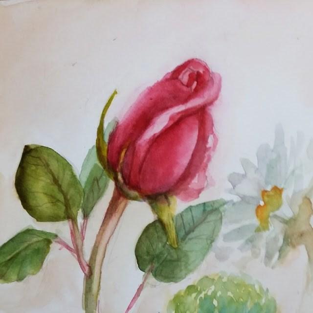 """Rosebud Bouquet"" original fine art by Wendy Starita"