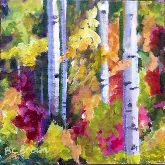 """The Birch Tree Challenge"" original fine art by Beth Carrington Brown"