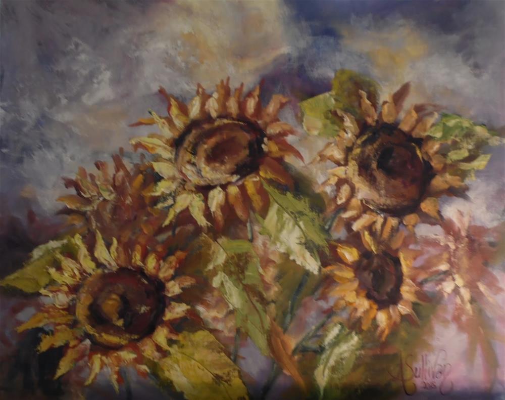"""Sunflower Majesty by Alabama artist Angela Sullivan"" original fine art by Angela Sullivan"
