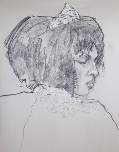 """Sydney"" original fine art by Nancy Roberts"