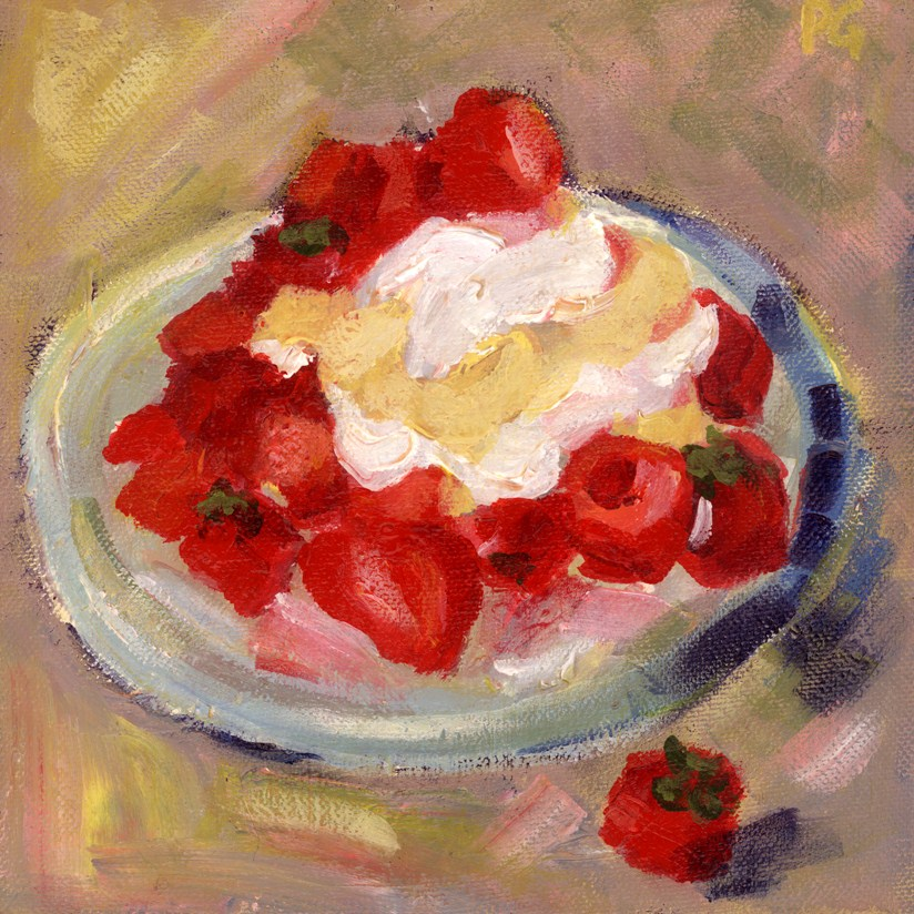 """Shortcake for Dessert"" original fine art by Pamela Gatens"