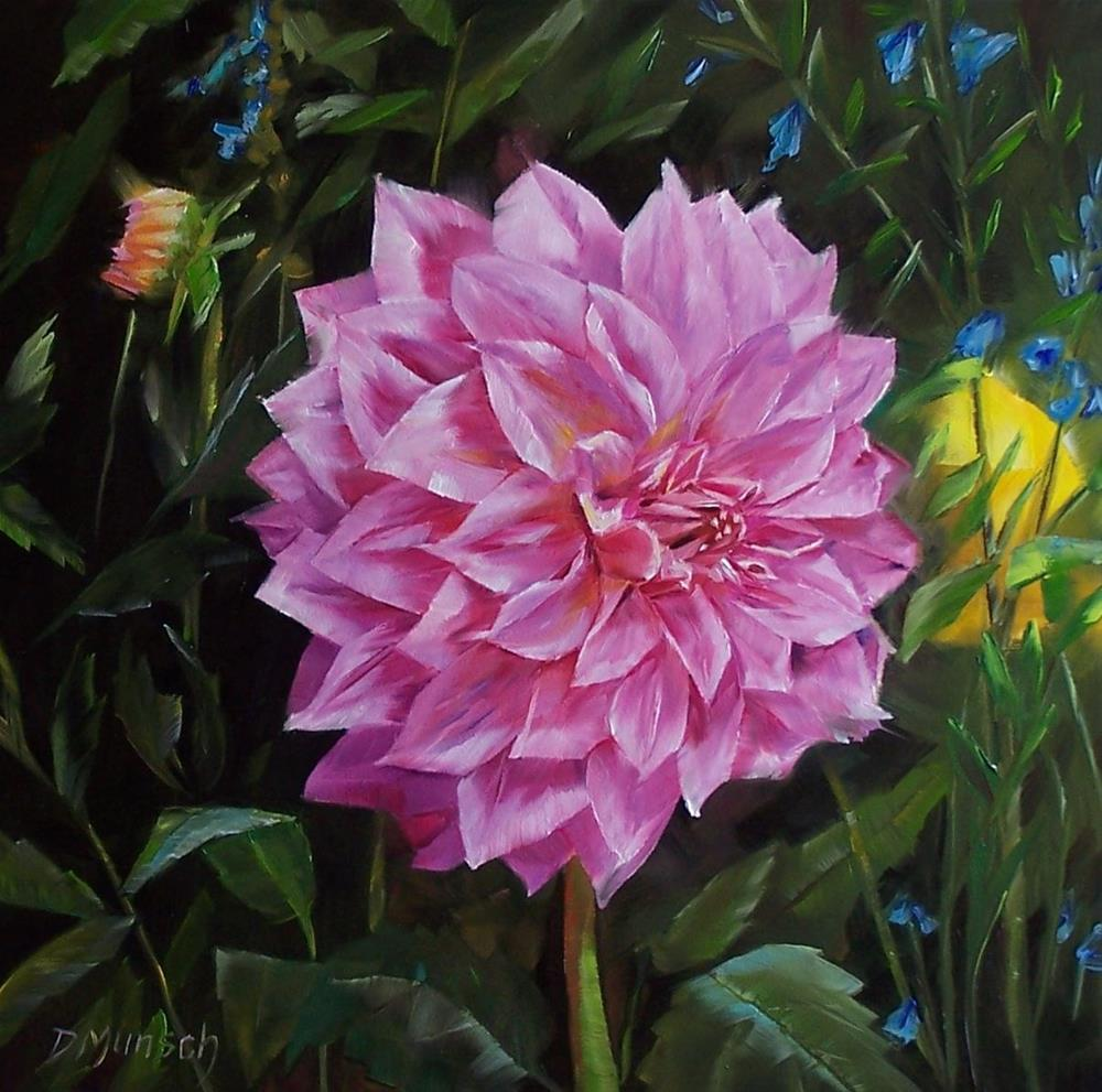 """Mary's Dahlia"" original fine art by Donna Munsch"