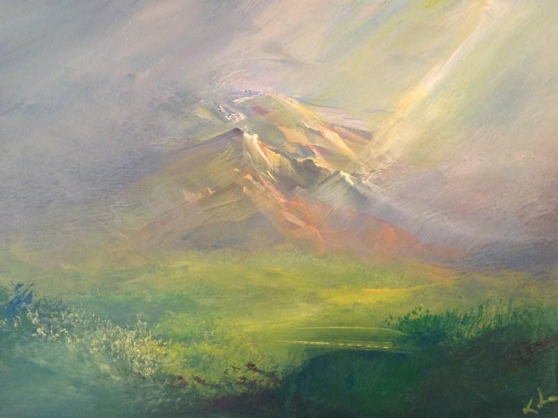 """Somewhere To Be Found"" original fine art by David Kuhn"