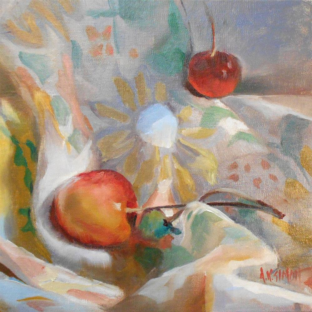 """Not a Bowl of Cherries"" original fine art by A.K. Simon"