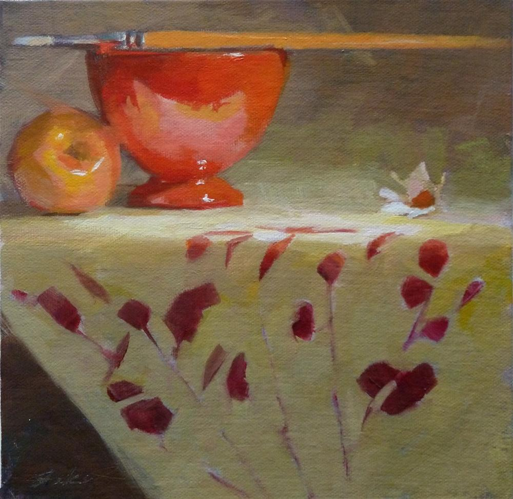 """Red Bowl & Pink Lady"" original fine art by Ron Ferkol"