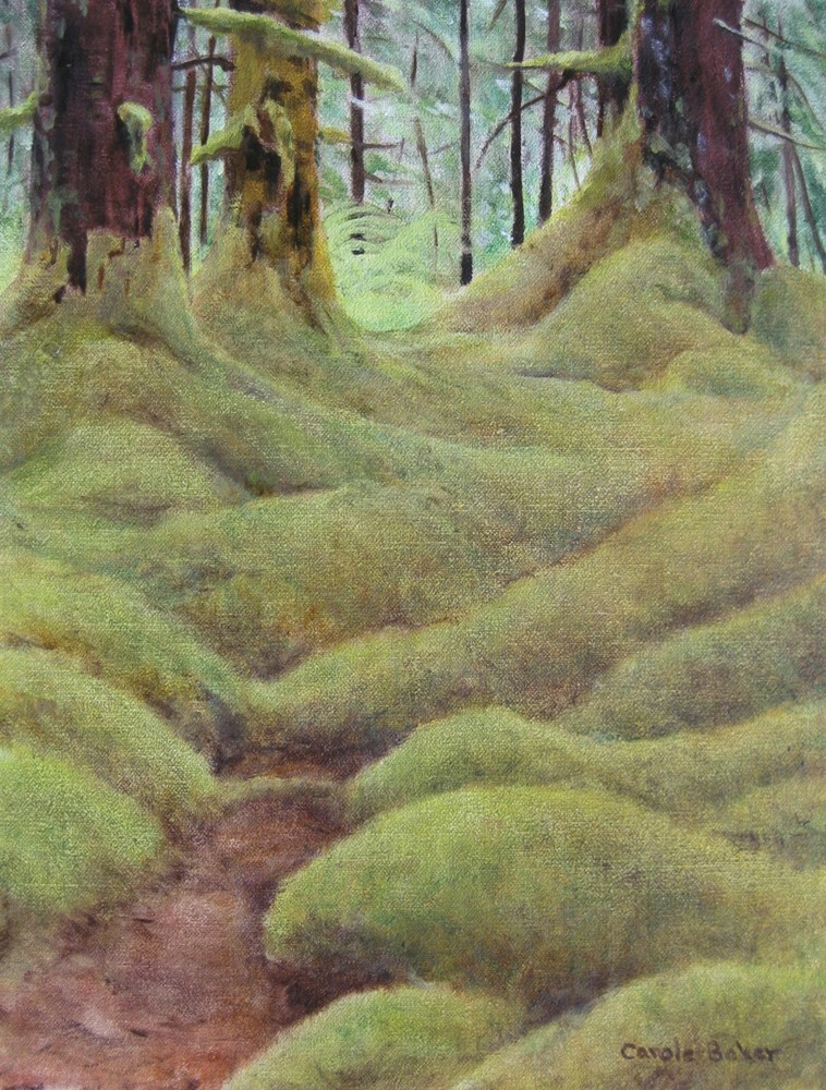 """Path through the Woods"" original fine art by Carole Baker"
