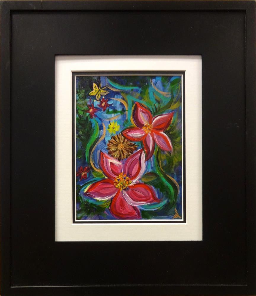 """3204 - Frame and Mat - Floribunda"" original fine art by Sea Dean"