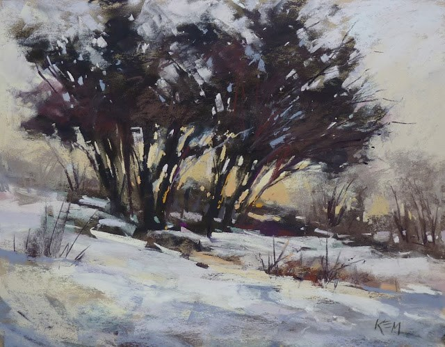 """Simplifying Winter Trees from a Complicated Photo"" original fine art by Karen Margulis"