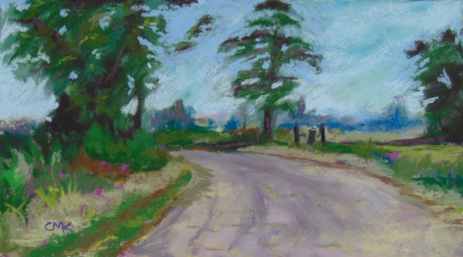 """The End of Layton Landing Road"" original fine art by Catherine Kauffman"