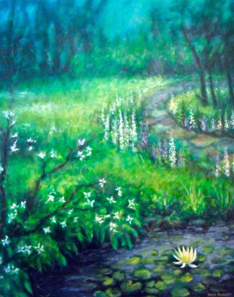 """Quiet Garden"" original fine art by Karen Roncari"