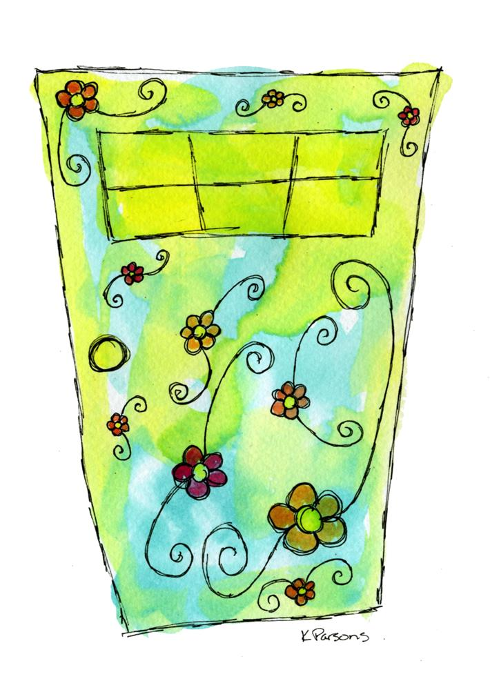 """Whimsy Door"" original fine art by Kali Parsons"