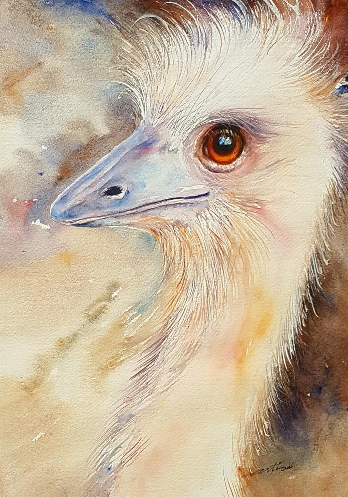 """Fair Maiden Emu"" original fine art by Arti Chauhan"