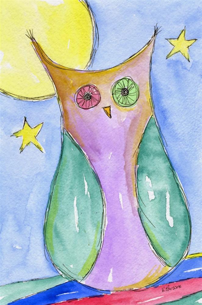"""Under the Moon"" original fine art by Kali Parsons"