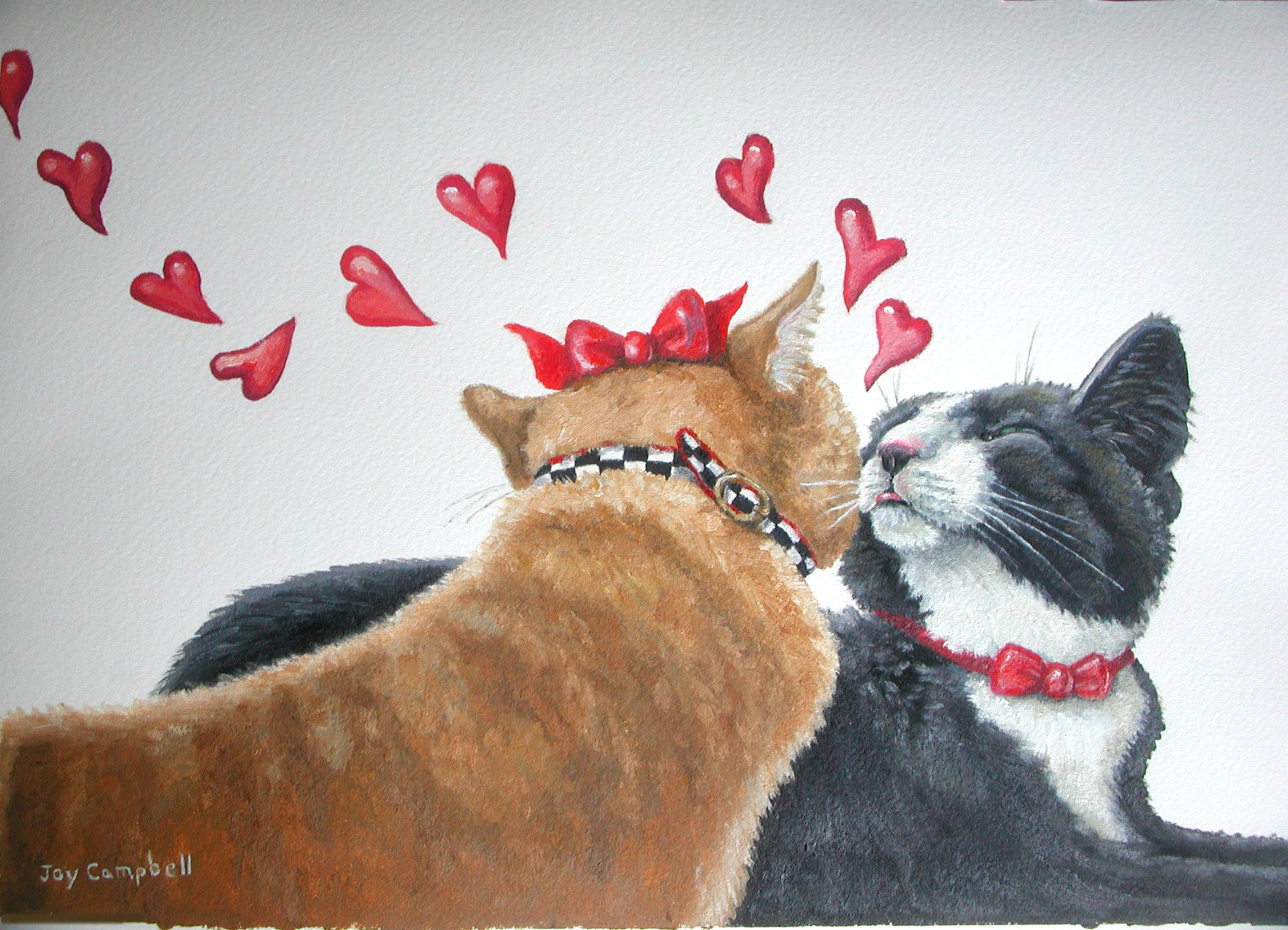 """Kitty Love"" original fine art by Joy Campbell"