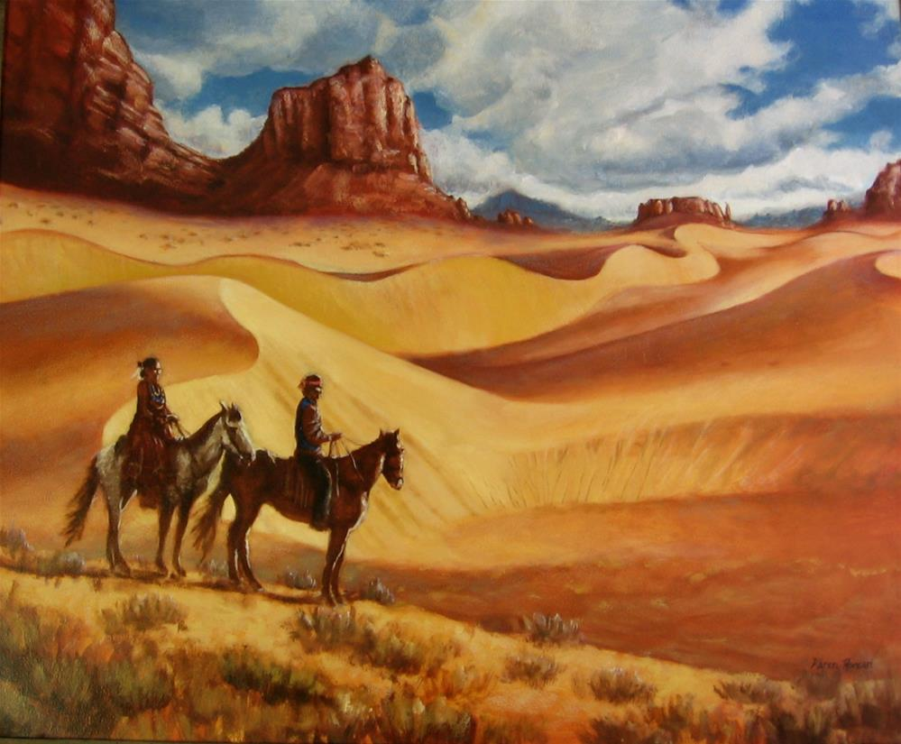 """Desert Gold"" original fine art by Karen Roncari"