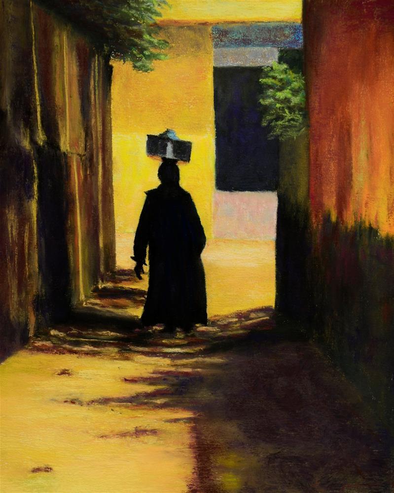 """""""Cheese Seller of Giza"""" original fine art by Nelia Harper"""