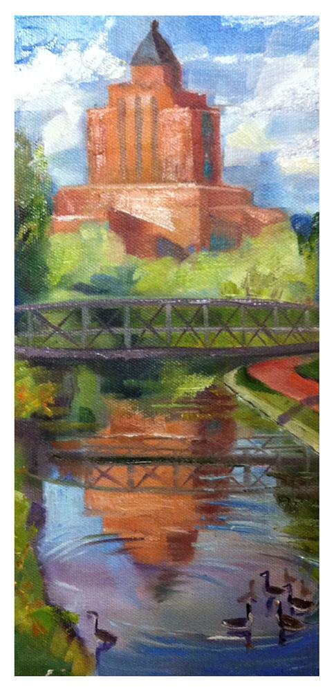 """Afternoon Swim"" original fine art by Kathleen Gray Farthing"