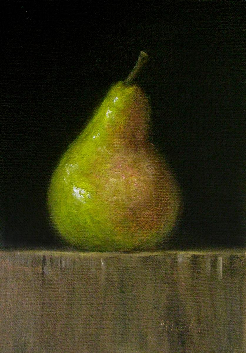 """Bosc Pear"" original fine art by MeeLi Lee"