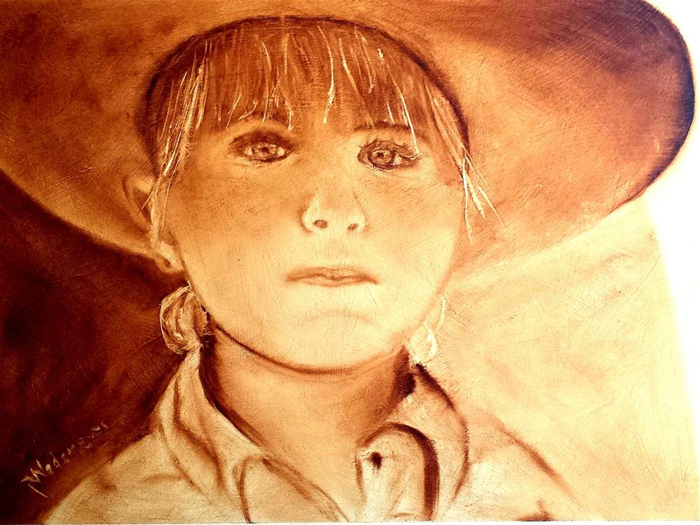 """Josie, a determined cowgirl"" original fine art by Pamela Wedemeyer"