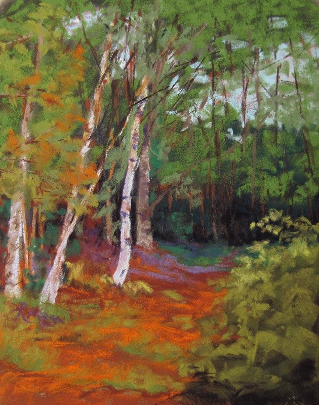 """Golden Path"" original fine art by Ruth Mann"