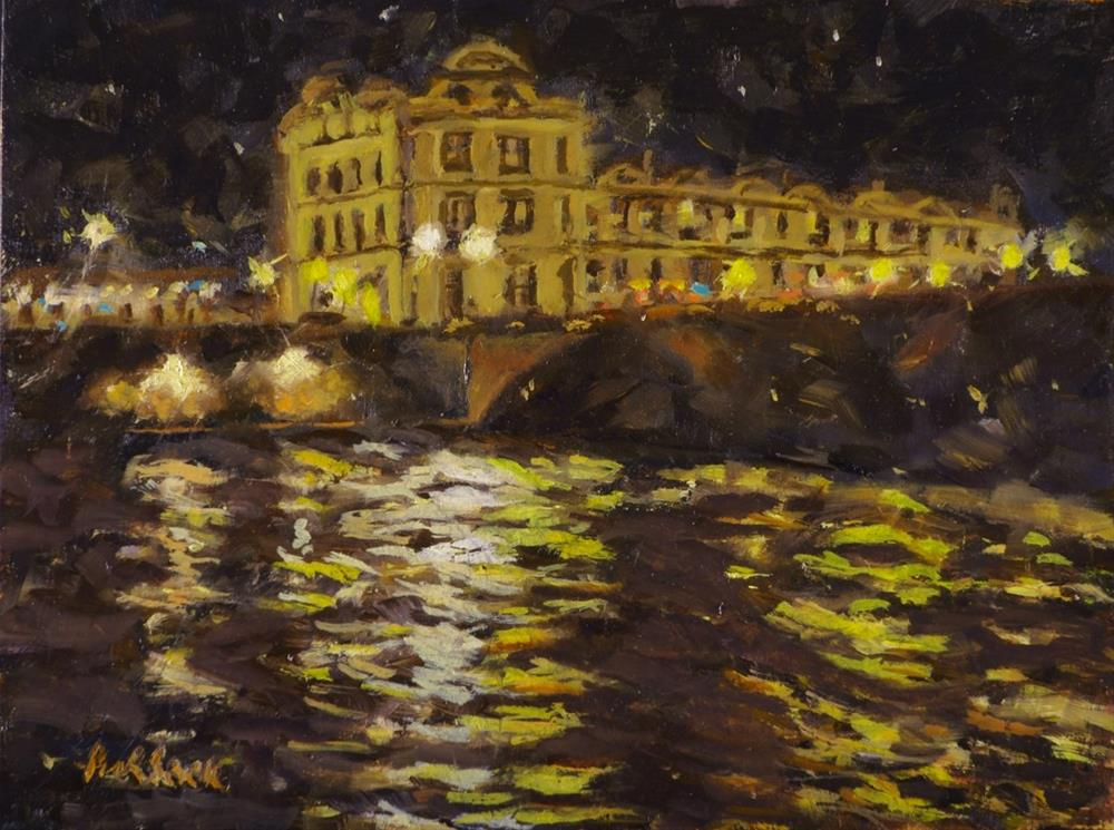 """Louvre at Night"" original fine art by Daniel Fishback"