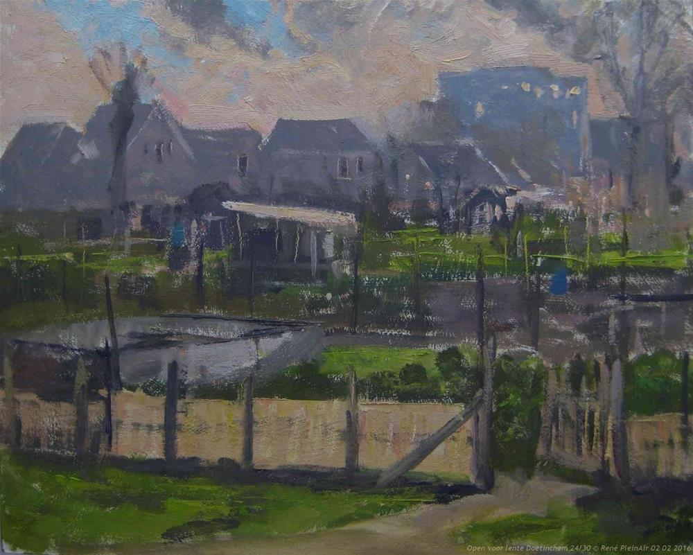 """Open for Spring. Doetinchem, The Netherlands."" original fine art by René PleinAir"