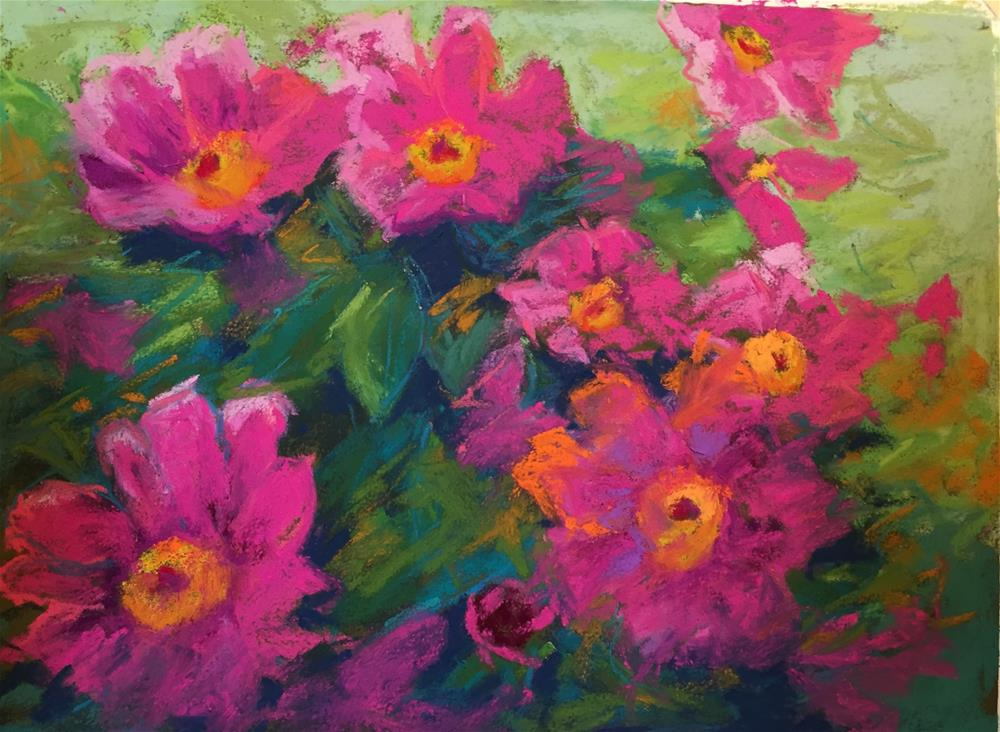 """Peony Parade"" original fine art by Sandi Miller"