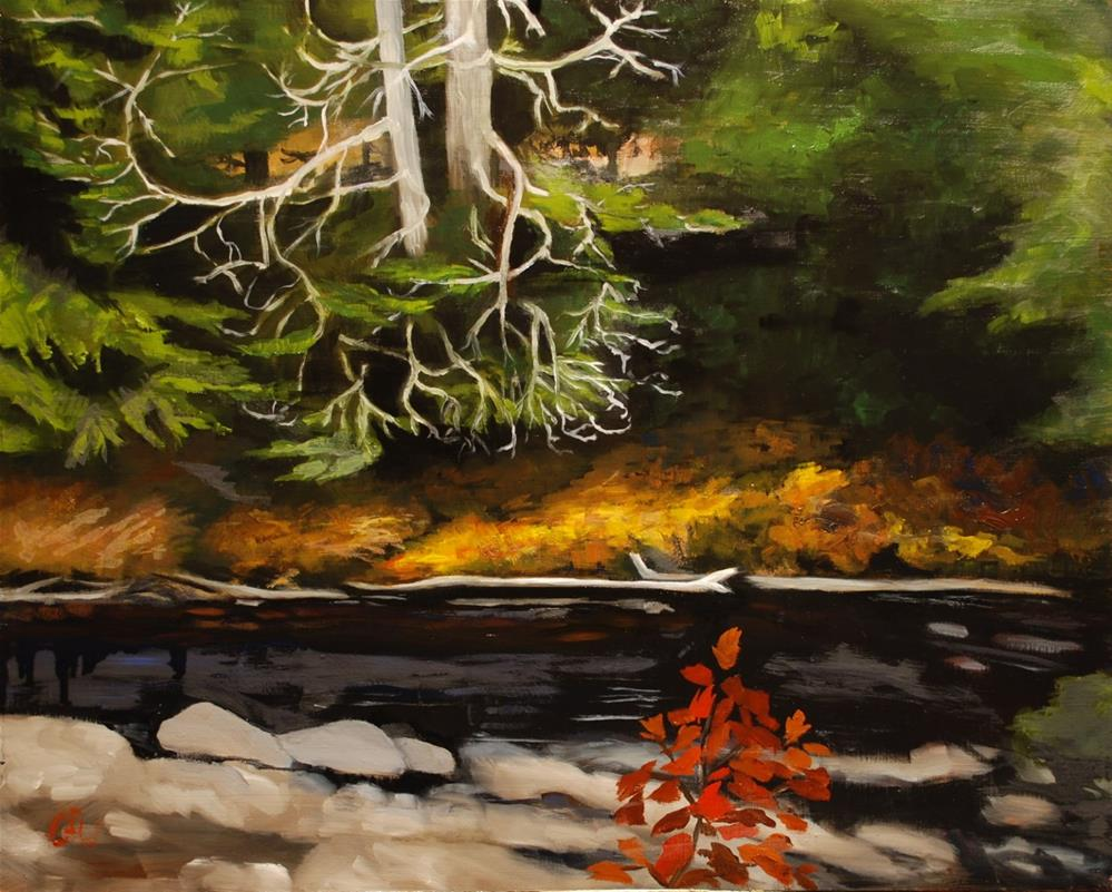 """Autumn on the River"" original fine art by Gary Westlake"