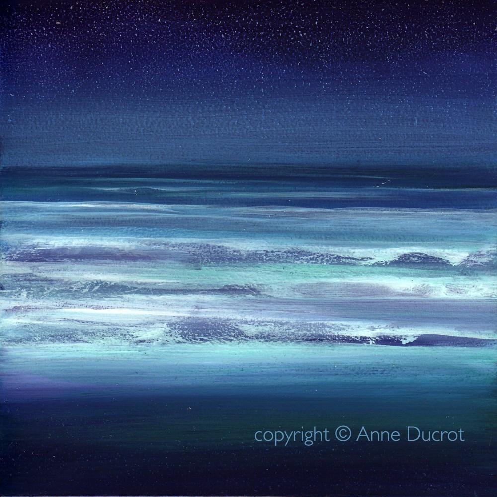 """Ocean Meditation #8"" original fine art by Anne Ducrot"