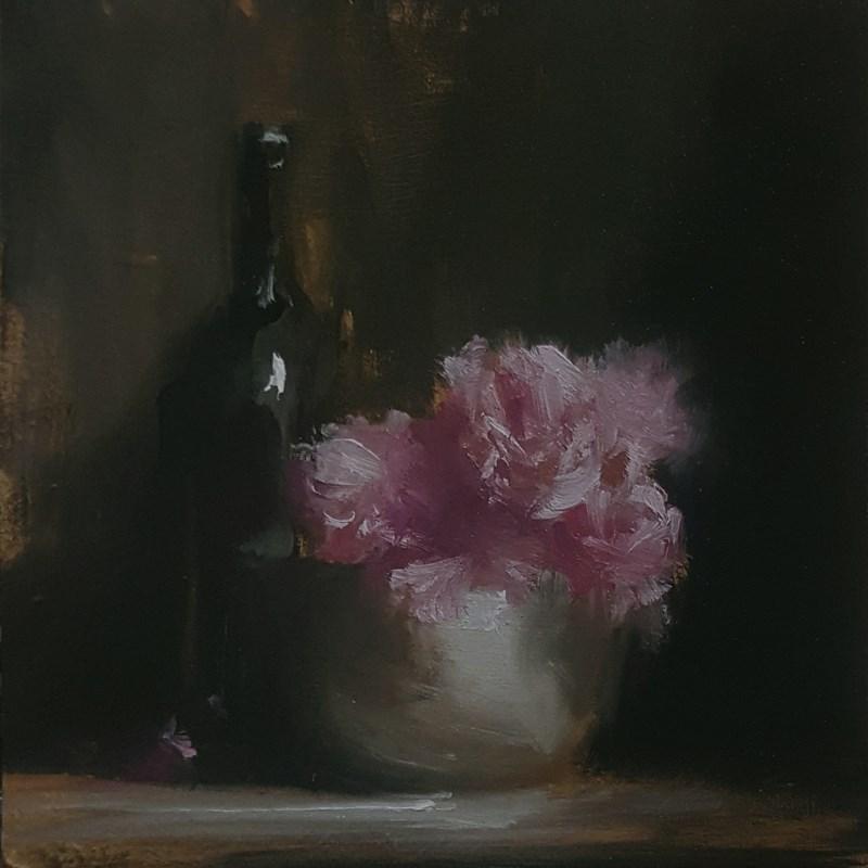 """""""Flower Bowl"""" original fine art by Neil Carroll"""