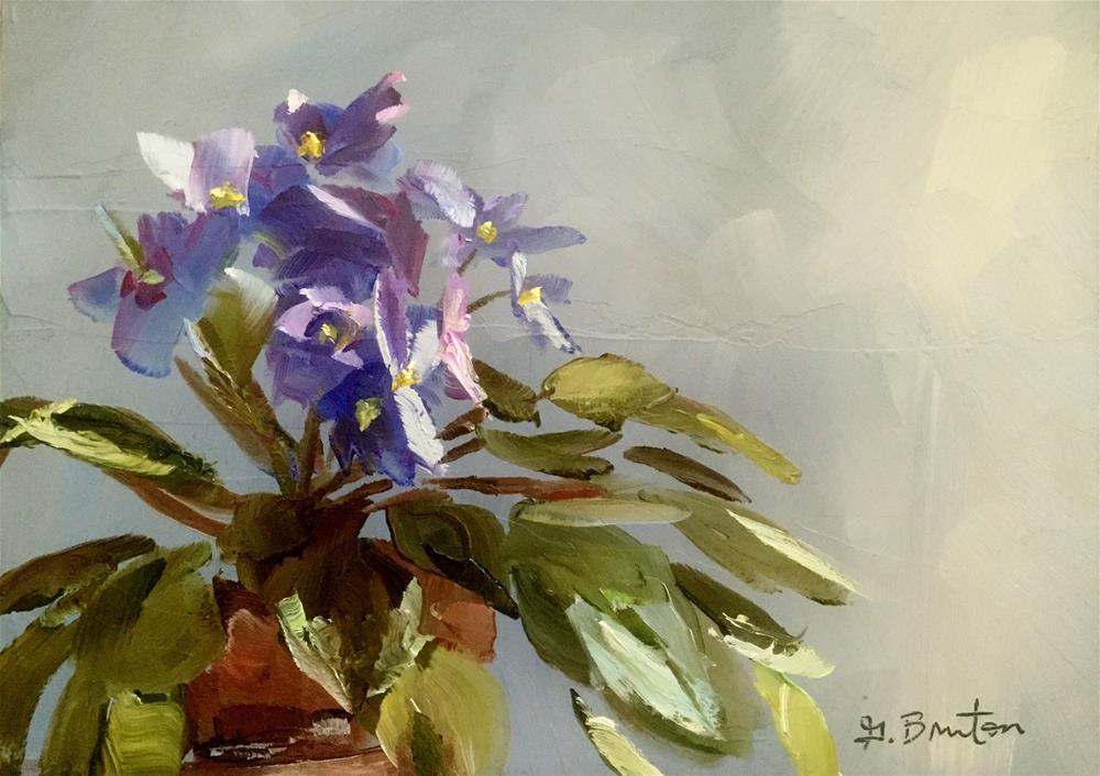 """African Violet Study"" original fine art by Gary Bruton"