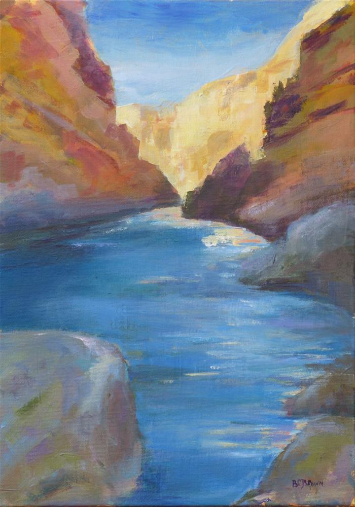 """Rio Grande"" original fine art by Beth Carrington Brown"