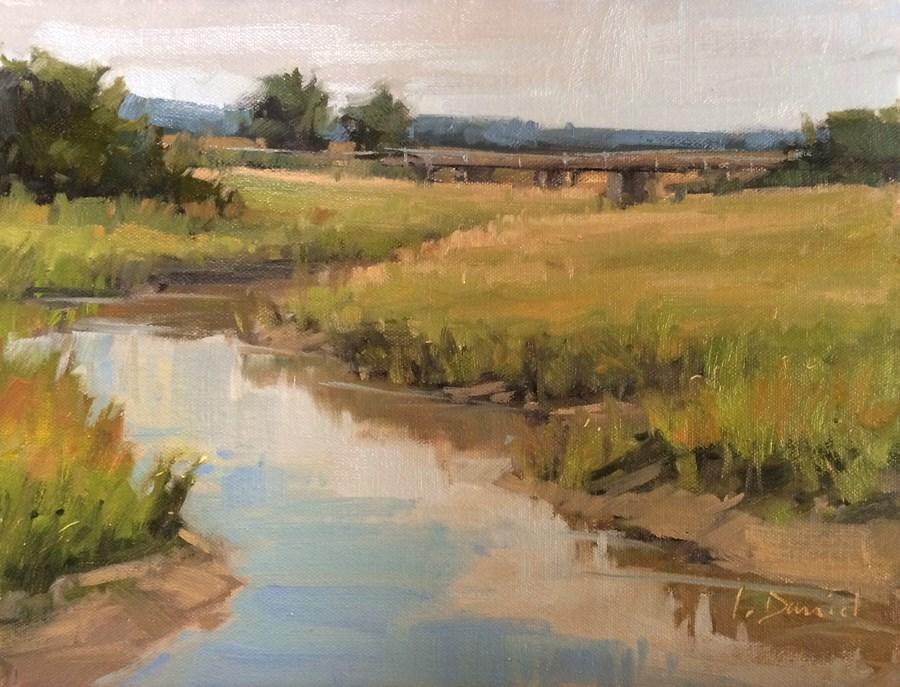 """Crooked Creek"" original fine art by Laurel Daniel"
