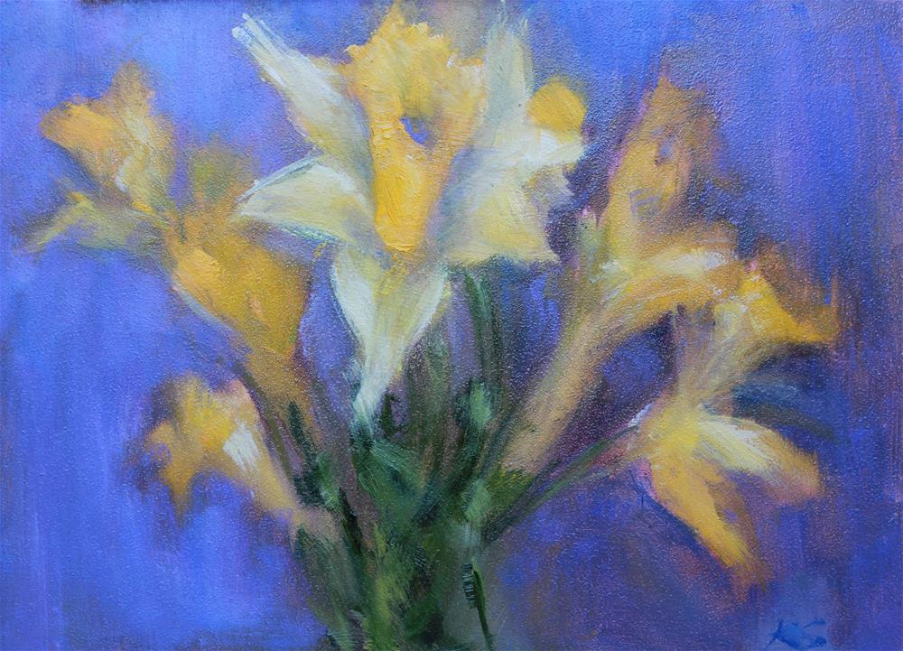 """Daffodils"" original fine art by Karen Solorzano"