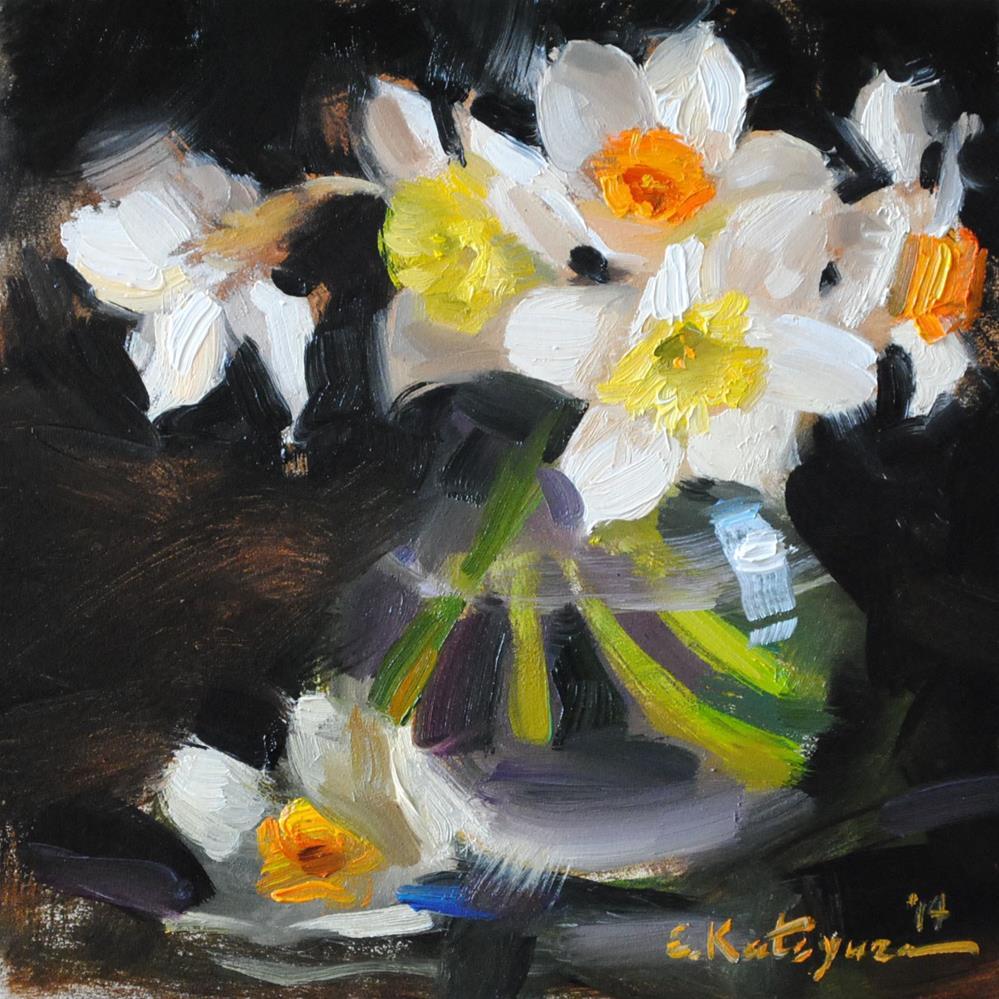 """Spring Daffodils"" original fine art by Elena Katsyura"