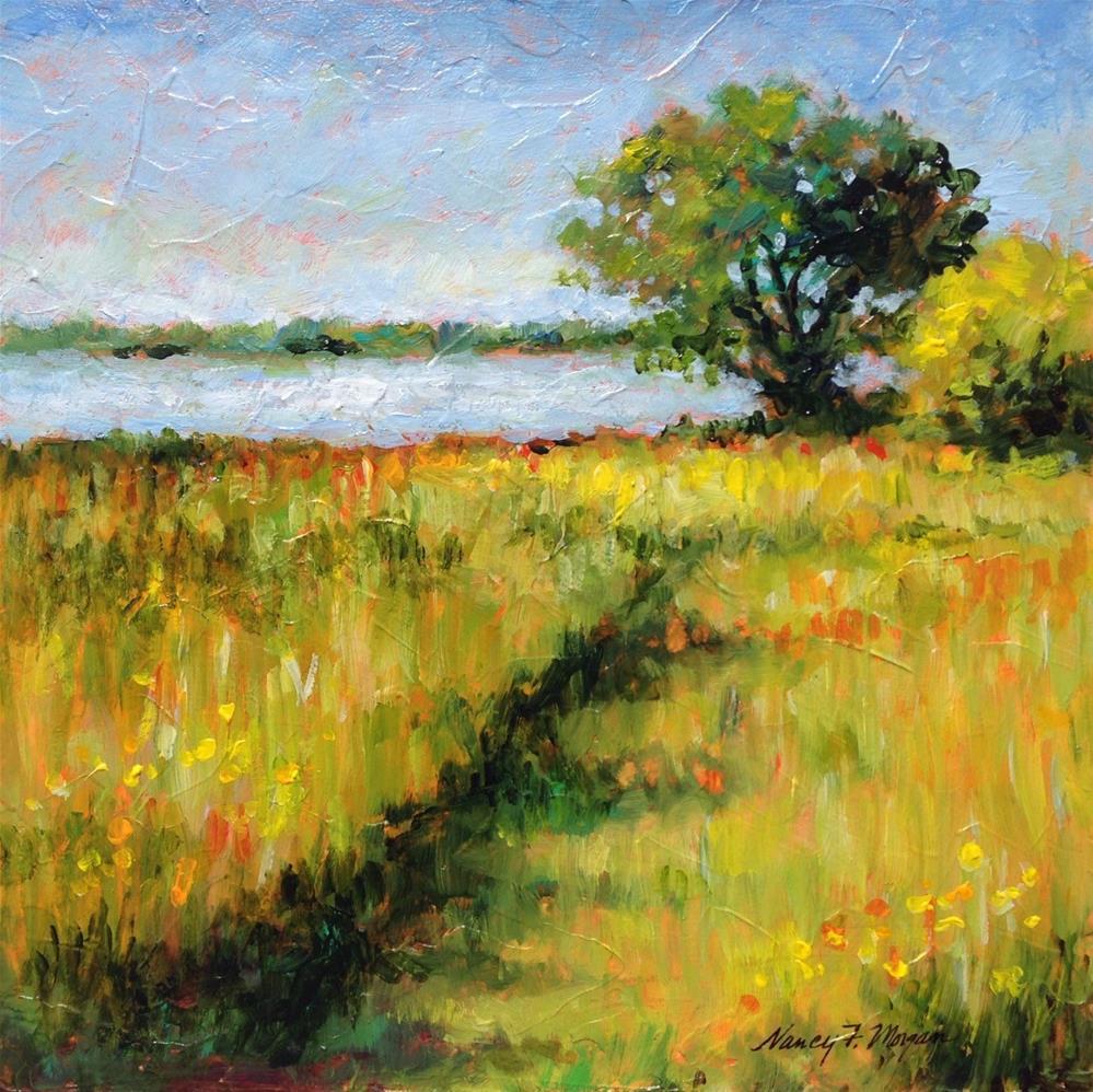 """""""Path to the Lake"""" original fine art by Nancy F. Morgan"""