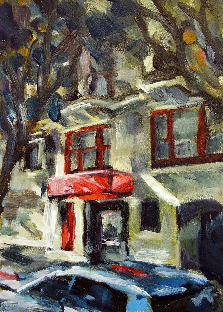 """Tiny Grocery"" original fine art by J. Farnsworth"