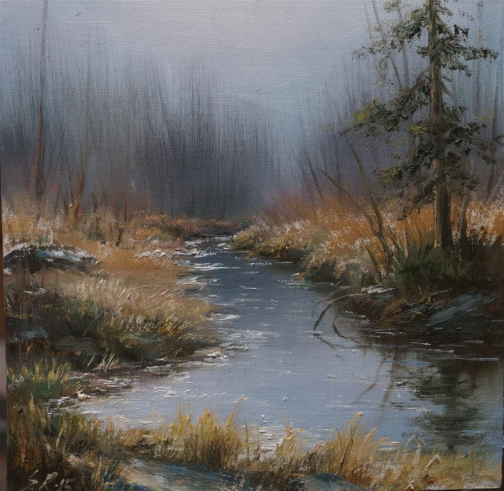 """Sun is rising"" original fine art by Stig Rosenlund"