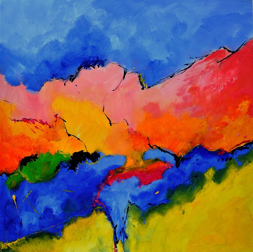 """Abstract 88112060"" original fine art by Pol Ledent"