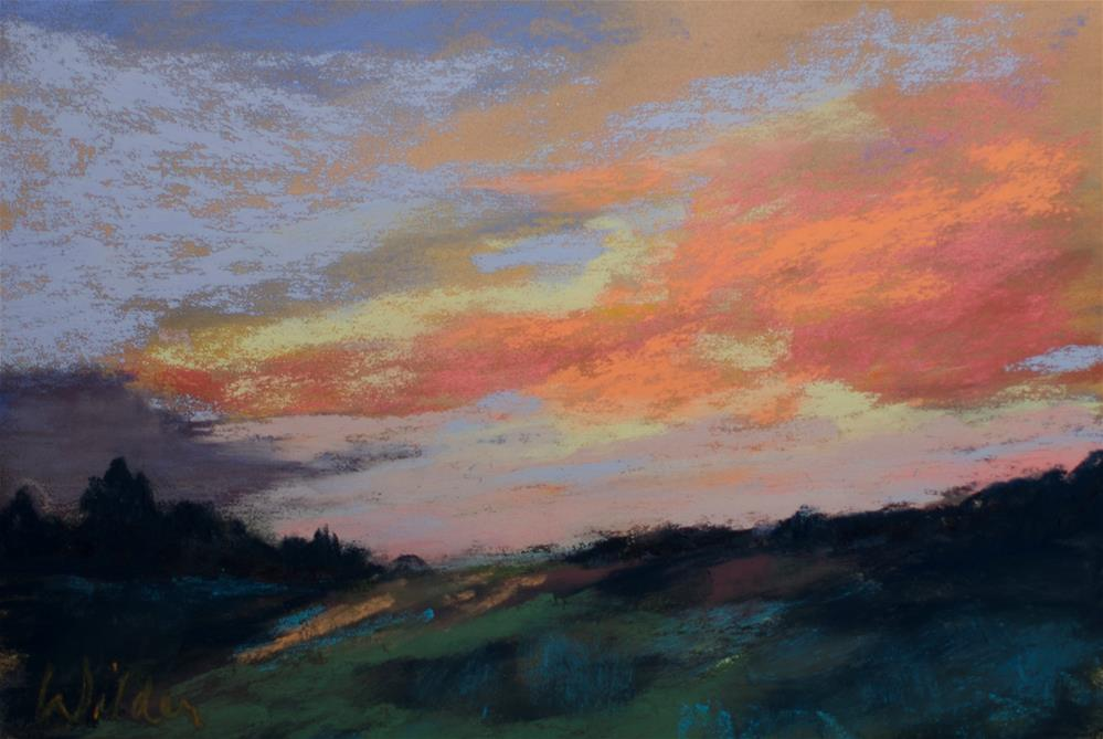 """End of Day"" original fine art by Judy Wilder Dalton"