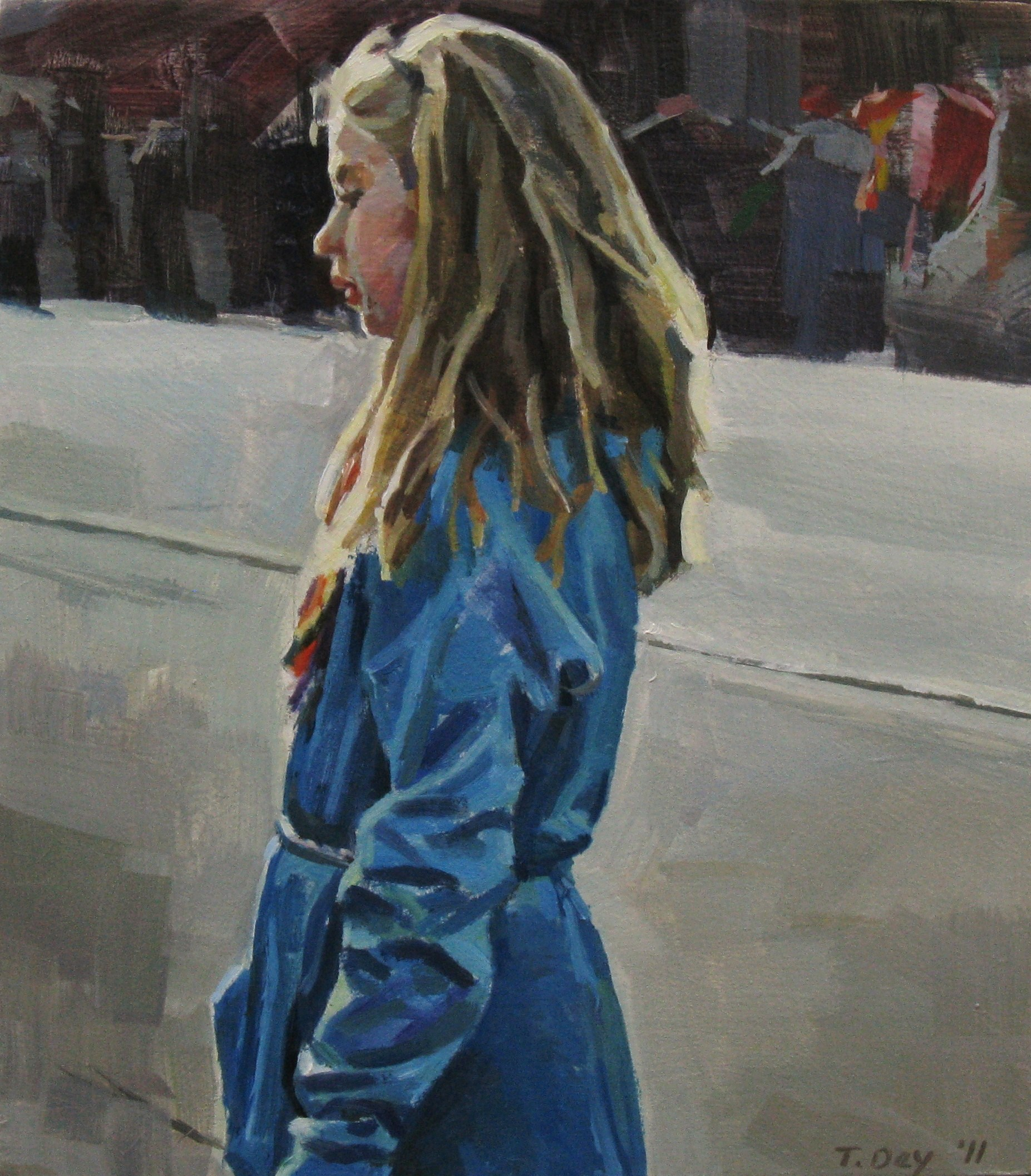 Waiting for the Parade original fine art by Taryn Day
