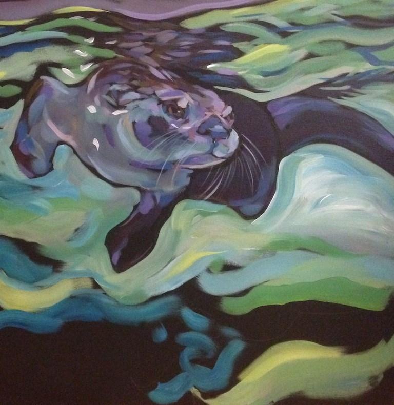 """""""The Intercessor"""" original fine art by Kat Corrigan"""