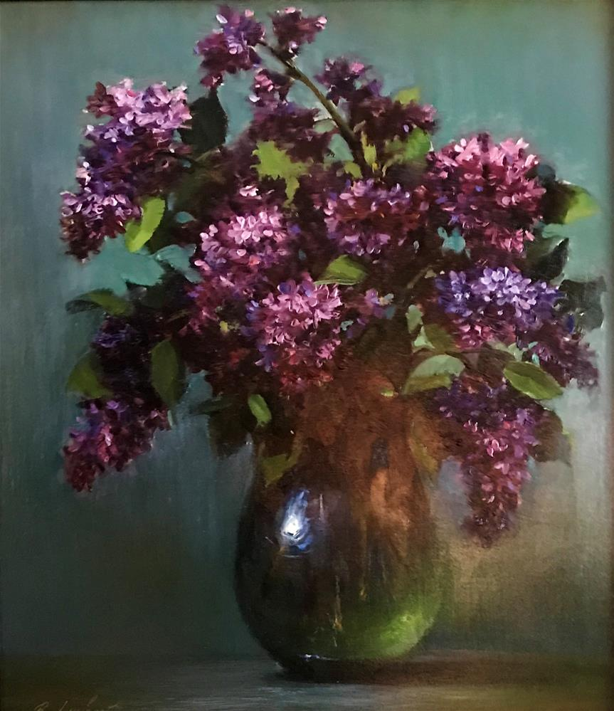 """Lilacs"" original fine art by Regina Lyubovnaya"