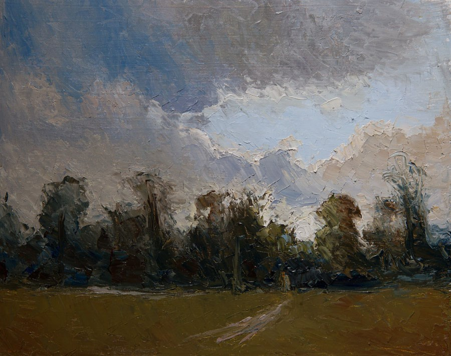 """Marble Hill Dusk"" original fine art by Jethro Knight"
