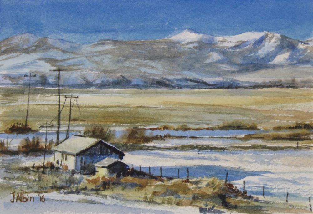 """On the Way to Bozeman Montana"" original fine art by Jane Albin"